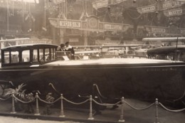 Paris Salon De L'Aviation Canot Automobile Nieuport Ancienne Photo Meurisse 1920 - Boats