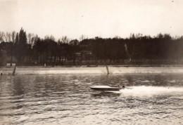 Paris Canot Automobile Sunbeam Despujols I Ancienne Photo Meurisse 1920 - Boats