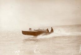 Monaco Canot Automobile Socram 71 En Vitesse Ancienne Photo Meurisse 1913 - Boats