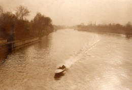 Paris Essais Du Canot Automobile Despujols Avant Monaco Ancienne Photo Meurisse 1914 - Boats