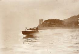 Meeting De Monaco Canot Automobile Le Quatre Ancienne Photo Meurisse 1913 - Boats