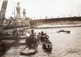 Couleurs De Paris Course De Canots Automobiles L'Arrivee Ancienne Photo Branger 1913 - Boats