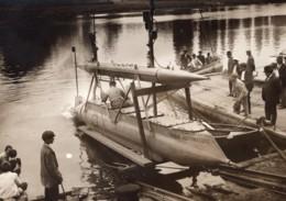 Maisons-Laffitte Torpille Radio Automatique Gabet Ancienne Photo Rol 1909 - Boats