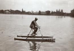 Paris Lac D'Enghien? Concours Cycles Nautiques Kano Legrand Ancienne Photo Branger 1914 - Sports
