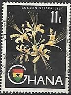 1959 11p Lily, Used - Ghana (1957-...)