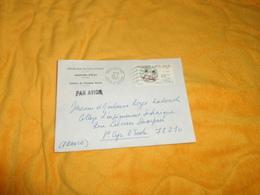 ENVELOPPE DE 1981. / REPUBLIQUE COTE D'IVOIRE. MINISTERE D'ETAT. CABINET DU PRESIDENT DENISE. ABIDJAN + TIMBRE.. - Ivory Coast (1960-...)