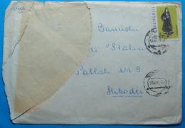 1962 Albania, Airmail Cover Sent From Tirana To Shkodra, Seal TIRANA, Stamp:2.5 Leke COSTUME LUNXHERI - Albania