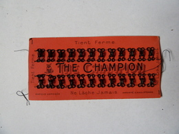 Couture - Plaquette D'agrafes Anciennes -The Champion - Other
