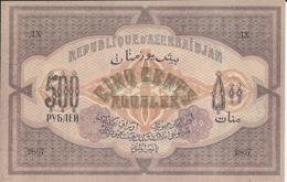 AZERBAÏDJAN     500 Roubles  1920  -- UNC  -- - Azerbaïdjan