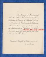 Document De 1910 - Château De NEAUPHLE Le VIEUX - Mariage Melle De CHABANNES La PALICE & Comte De MAULEON - Mariage