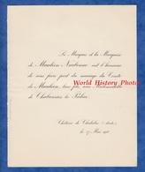 Document De 1910 - Château De CHALABRE ( Aude ) - Mariage Melle De CHABANNES La PALICE & Comte De MAULEON - Mariage