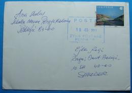 2013 Albania, Airmail Cover Sent Fom Peshkopi To Shkodra, Seal PESHKOPI And SHKODRA - Albania