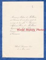 Document De 1902 - VILLARD , Lausanne ( Suisse ) - Mariage Jeanne De CAZENOVE & Alphonse Henri De MOLLINS - Mariage