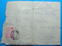 1967 Albania, Airmail Cover Sent Fom Tirana, Seal TIRANA, Stamp 30q. - Albania