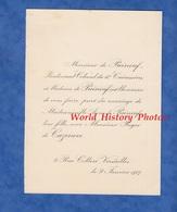 Document De 1907 - VERSAILLES , 9 Rue Colbert - Mariage De Melle Anne De PUINEUF & Roger De CAZENOVE - Mariage