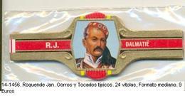 Vitolas Roquende Jan. Gorros Y Tocados Típicos. FM. Ref. 14-1456 - Vitolas (Anillas De Puros)
