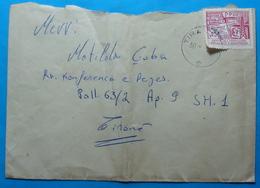 1986 Albania, Airmail Cover Sent From Tirana, Seal: TIRANA, Stamp 25q, NEWS - Albania