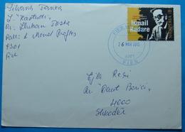 2013 Albania, Airmail Cover Sent From Fier To Shkodra, Seal: FIER, TIRANA, SHKODRA, Stamp 40 Leke, ISMAIL KADARE - Albania
