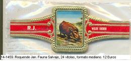 Vitolas Roquende Jan. Fauna Salvaje. FM. Ref. 14-1459 - Vitolas (Anillas De Puros)