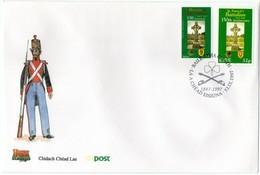 1997 Joint Ireland Mexico, OFFICIAL MIXED FDC BOTH STAMPS IRISH POSTMARK: St. Patrick's Battalion - Gezamelijke Uitgaven