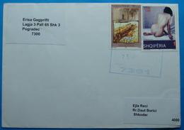 2013 Albania, Airmail Cover Sent From Fier To Shkodra, Seal: FIER, TIRANA, SHKODRA, Stamp 10 & 30 Leke, NUDE ARTS CASTLE - Albania