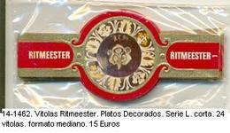 Vitolas Roquende Jan. Platos Decorados. FM. Ref. 14-1462 - Vitolas (Anillas De Puros)