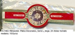 Vitolas Roquende Jan. Platos Decorados. FM. Ref. 14-1463 - Vitolas (Anillas De Puros)