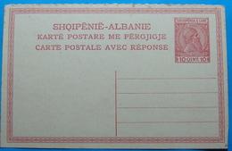 1913 Albania Stationery Card 10 Qint. Scanderbeg - Albania