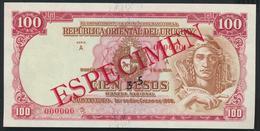 °°° SPECIMEN URUGUAY 100 PESOS 1939 AUNC °°° - Uruguay