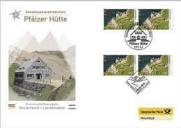 2012 Germany - Joint Issue Germany Lichtenstein - Pfalze Hutte -Mixed FDC As Issued By Deutsche Post - Gemeinschaftsausgaben