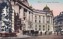 AK Wien - K. K. Hofburg - Michaelerplatz - Fiaker - 1918 (37683) - Wien Mitte
