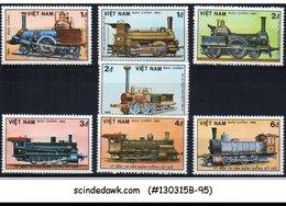 VIETNAM - 1985 TRAINS AND RAILROADS - 7V - MINT NH - Trains