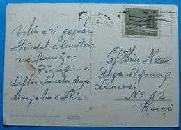 1965 Albania Flora Postcard Sent From TIRANA To KORCA, Seal: TIRANA Stamp 15q. Tirana Sanatorium - Albania