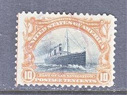 U.S. 299  Flaw  (o)  STEAMSHIP - Unused Stamps
