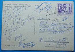 1979 Albania Elbasan Postcard Sent From KLOS To Tirana, Seal: KLOS, RARE - Albania