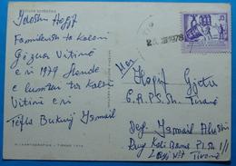 1978 Albania Costumes Postcard Sent From Tirana,  Seal: TIRANA, Stamp: 15q. HEAVY INDUSTRY - Albania
