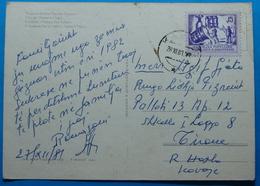 1981 Albania Tirana Postcard Sent From Kavaja To Tirana,  Seal: KAVAJA, Stamp: 15q. Heavy Industry, RARE - Albania