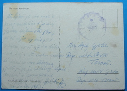 1974 Albania Costume Postcard Sent From Military Base 190 Tirana,  Seal: MILITARY, RARE - Albania