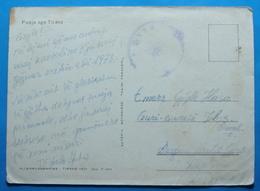 1973 Albania Tirana Postcard Sent From Military Base 916 Tirana To Guri Bardhe,  Seal: MILITARY, RARE - Albania