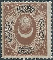 Turchia Turkey Ottomano Ottoman 1865 Duloz Issue 1 Ghr - Dark Yellow Orange , Not Used,Variety Of Color From Violet Gray - 1858-1921 Impero Ottomano