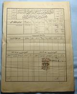 1889 Albania Document With OTTOMAN - TURKEY Fiscal Revenue Stamp 20 PARA - Albania