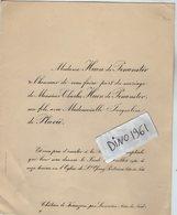 VP13.353  PORTRIEUX X PLOUBEZERE 1930 - Généalogie - Faire - Part De Mariage Mr Ch. HUON De PENANSTER & Melle J. PLUVIE - Mariage