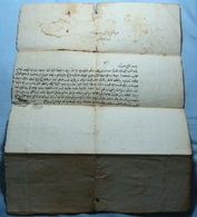1800 - 1900 Albania OTTOMAN - TURKEY Thick Paper Document With Watermark With 2 Seals, RARE - Albania