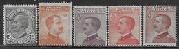 Italia Italy 1918 Regno Effigie Sa N.108-112 Completa Nuova MH * - Nuovi