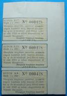 1955 Albania 3 Coupons Of Share. - Albania