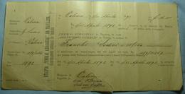 1892 Albania VALONA Assicurazioni Generali In TRIESTE, 16,50 Franka, EXTREMELY RARE - Albania