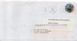 1998--PAP Repiqué  France 98 (football)  De HATTEN-67  Pour STRASBOURG-67 étiquette De Réexpédition Pour Strasbourg - Marcophilie (Lettres)
