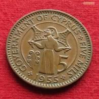 Cyprus 5 Mils 1955 KM# 34   Chipre Zypern - Chypre