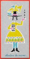 """Calendrier Petit Format 1961 """"A La Toile D'Avion"""" Tissgar Tissus Mouchoirs Boussac - Calendars"""