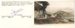 Tematica - Treni - Foto Di Quadro Riprodotto In Cartolina Con Auguri Di Felice Anno Nuovo - Le Chemin De Fer De Puy-de-D - Treni